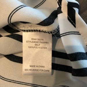 DR2 Tops - Black and white Stripe Blouse Size L